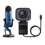 Logitech StreamCam (Noir) + Blue Microphones Yeti (Bleu Nuit)