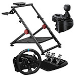 Logitech G923 (PC / PlayStation 5 / PlayStation 4) + Driving Force Shifter + OPLITE Wheel Stand GT Pro