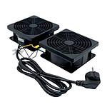 Dexlan Kit de 2 Ventilateurs de toit pour coffrets