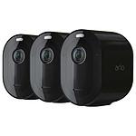 Arlo Pro 4 Pack 3 Caméras - Noir (VMC4350B)