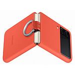 Samsung Coque Silicone Anneau Corail Galaxy Z Flip 3