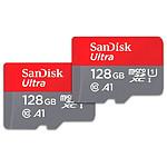 SanDisk Ultra microSD UHS-I U1 128 Go + Adaptateur SD (SDSQUA4-128G-GN6MT)