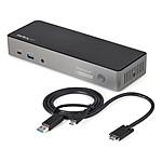 StarTech.com Station d'accueil USB-C et USB-A Triple 4K 30 Hz avec Power Delivery 85 W