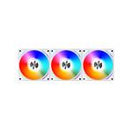 Lian Li Uni Fan AL120 RGB Par 3 (blanc) + Contrôleur