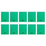 Calligraphe 8000 Polypro Cahier 96 pages 17 x 22 cm seyes grands carreaux Vert (x10)