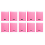 Calligraphe 8000 Polypro Cahier 96 pages 17 x 22 cm seyes grands carreaux Rose (x10)
