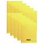 Calligraphe 8000 Polypro Cahier 96 pages 17 x 22 cm seyes grands carreaux Jaune (x10)