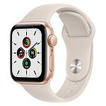 Apple Watch SE GPS Gold Aluminium Bracelet Sport Lumière Stellaire 40 mm