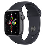 Apple Watch SE GPS Space Gray Aluminium Bracelet Sport Minuit 40 mm