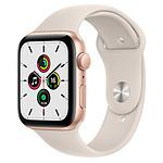 Apple Watch SE GPS Gold Aluminium Bracelet Sport Lumière Stellaire 44 mm