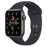 Apple Watch SE GPS Space Gray Aluminium Bracelet Sport Minuit 44 mm
