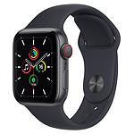 Apple Watch SE GPS + Cellular Space Gray Aluminium Bracelet Sport Minuit 40 mm