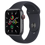 Apple Watch SE GPS + Cellular Space Gray Aluminium Bracelet Sport Minuit 44 mm