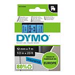 DYMO Ruban D1 Standard noir sur bleu 12 mm x 7 m
