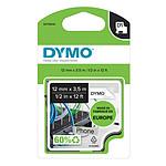 DYMO Ruban RHINO en nylon flexible noir sur blanc 12 mm x 3.5 m