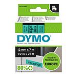 DYMO Ruban D1 Standard - noir sur vert 12 mm x 7 m