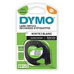DYMO LetraTAG Ruban papier Noir/Blanc