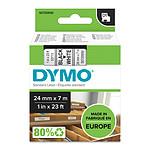 DYMO Ruban D1 Standard blanc sur noir 24 mm x 7 m