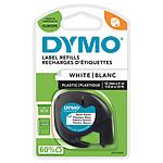 DYMO LetraTAG Ruban d'Étiquettes Plastiques Noir sur Transparent