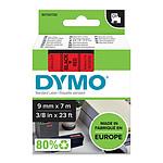DYMO Ruban D1 Standard - noir sur rouge 9 mm x 7 m