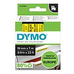 DYMO Ruban D1 Standard - noir sur jaune 19 mm x 7 m