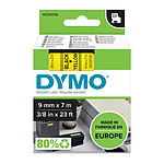 DYMO Ruban D1 Standard - noir sur jaune 9 mm x 7 m