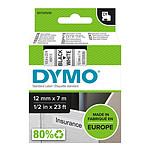DYMO Ruban D1 Standard - noir/blanc 12 mm - 7 m