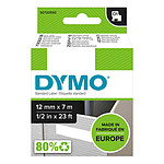 DYMO Ruban D1 Standard - rouge/blanc 12 mm - 7 m