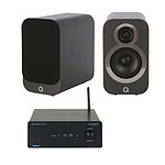 Tangent Ampster BT II + Q Acoustics 3010i Gris