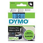 DYMO Ruban D1 Standard noir sur bleu 6 mm x 7 m