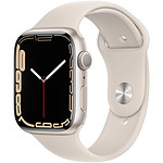Apple Watch Series 7 GPS Aluminium Stellar Light Sport Band 45 mm