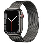 Apple Watch Series 7 GPS + Cellular Stainless Graphite Bracelet Milanese 45 mm