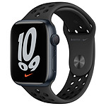 Apple Watch Nike Series 7 GPS Aluminium Minuit Bracelet Sport 45 mm