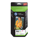 HP 364 Pack Photo Cyan, Magenta, Jaune (CH082EE)