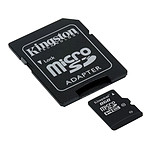 Kingston microSDHC 8 Go - Class 10 + adaptateur SD