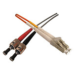 Câble fibre optique multimode OM1 62.5/125 ST-UPC/LC-UPC (2 mètres)