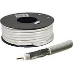 Cable coaxial para antena de TV / satélite (rollo de 25 metros)