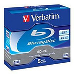 Verbatim BD-RE 25 Go 2x (par 5, boite)
