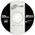 Tx CD-R 700 Mo Certifié 52x (pack de 10, boîtier simple)