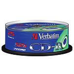 Verbatim CD-R 700 Mo 52x (spindle de 25)