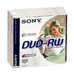 Sony DVD-RW 8 cm 2.8 Go 2x (par 5, boite)