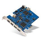 Belkin carte contrôleur PCI-E avec 3 ports USB 2.0 (dont 1 interne) et 3 ports FireWire 800 (dont 1 interne)