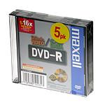 Maxell DVD-R 4.7 Go Certifié 16x (pack de 5)