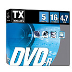 Tx DVD-R 4.7 Go Certifé 16x boitier slim