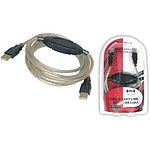 Câble USB 2.0 type AA (mâle/mâle) compatible Windows Easy Transfer