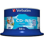 Verbatim CD-R 700 MB certificado 52x imprimible (pack de 50, spindle)
