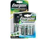 """Energizer Chargeur Kit  (livré avec 4 piles HR6 AA 2000 mAh + 2 piles HR3 AAA 850 mAh """"Enerziger Rechargeable"""") + 4 piles HR06 offertes"""