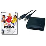 Adaptateur USB pour 2 manettes PlayStation + FIFA 2004 - OEM