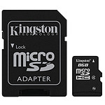 Kingston microSD 8 GB High Capacity + adaptador SD
