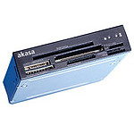 """Akasa AK-ICR-05 - Lecteur de cartes mémoires/cartes SDHC et SIM pour baie 3"""" 1/2"""